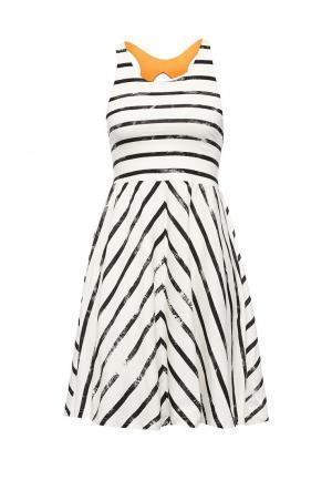 Платье Animal. Цвет: белый
