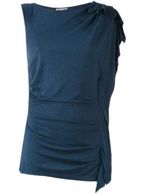 Футболка на одно плечо Paul & Joe. Цвет: синий