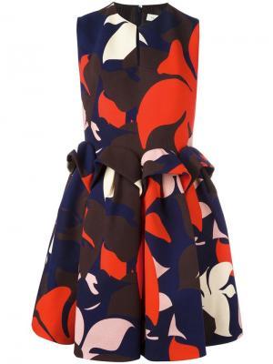 Платье с присборенной талией Delpozo. Цвет: многоцветный