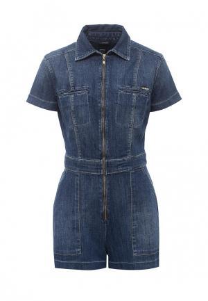 Комбинезон джинсовый Guess Jeans. Цвет: синий