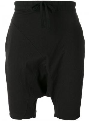 Спортивные шорты с заниженной проймой Thom Krom. Цвет: чёрный