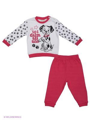 Пижама Disney. Цвет: белый, черный, фуксия