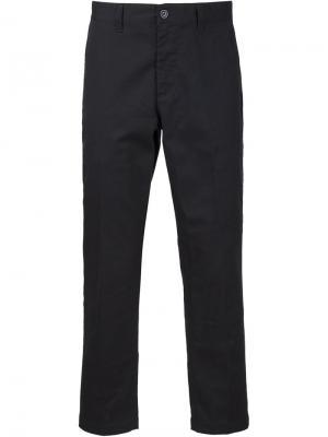 Укороченные брюки кроя слим Obey. Цвет: чёрный