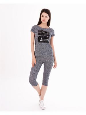 Комплект одежды: футболка, бриджи Mark Formelle. Цвет: серый, черный