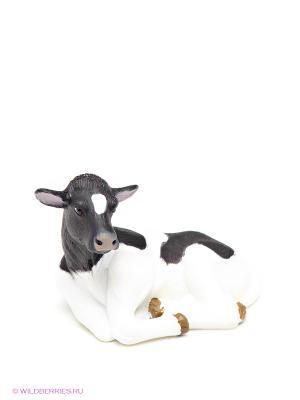 Голштейн теленок лежащий MOJO. Цвет: черный, белый