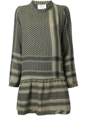 Платье-туника Cecilie Copenhagen. Цвет: зелёный