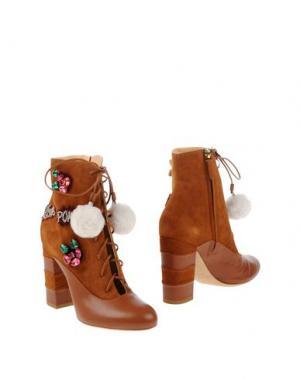 Полусапоги и высокие ботинки GEDEBE. Цвет: коричневый