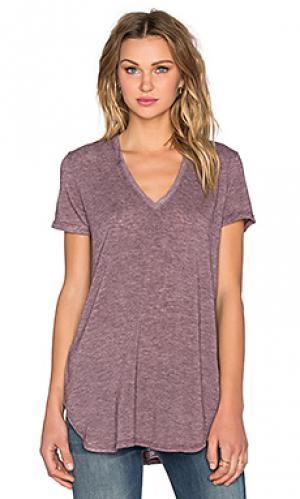 Свободная футболка с v-образным вырезом lax Saint Grace. Цвет: фиолетовый