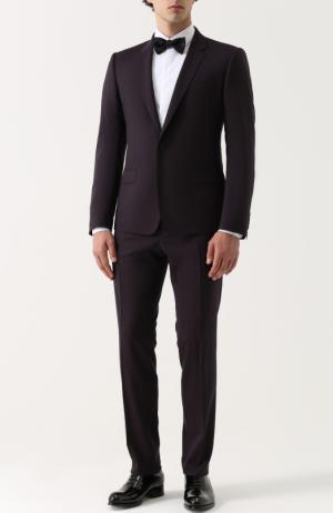 Шерстяной костюм с пиджаком на двух пуговицах Dolce & Gabbana. Цвет: фиолетовый