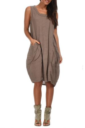Платье Couleur lin PAOLA_TAUPE_ROBE