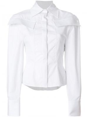Рубашка в полоску Jacquemus. Цвет: белый