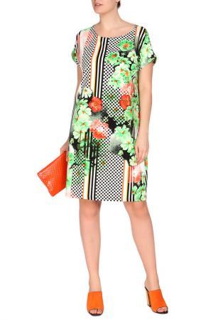 Платье FIRST. Цвет: зеленый