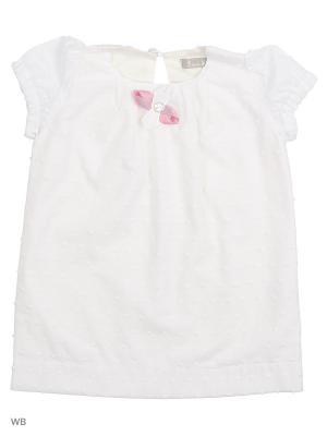 Платье туника белое с розами Gioia di Mamma