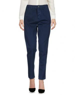 Повседневные брюки CARE LABEL. Цвет: темно-синий