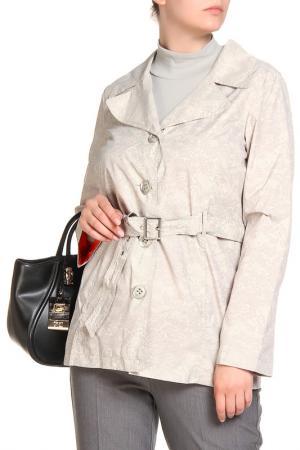 Куртка HELENA VERA. Цвет: бежевый