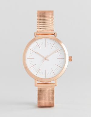 ASOS Curve Часы цвета розового золота с сетчатым браслетом. Цвет: медный