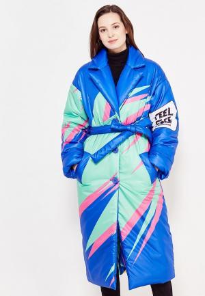 Куртка утепленная Vika Smolyanitskaya. Цвет: синий