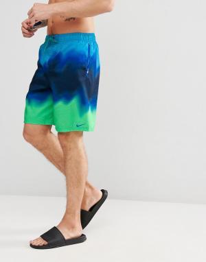 Nike Пляжные шорты. Цвет: синий