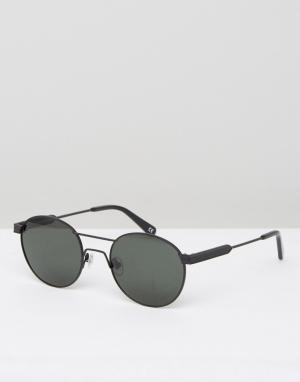 Han Kjobenhavn Круглые солнцезащитные очки. Цвет: черный
