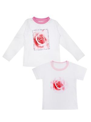 Набор одежды: футболка, джемпер Коллекция Розы КОТМАРКОТ. Цвет: розовый