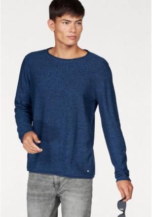 Пуловер JOHN DEVIN. Цвет: синий/меланжевый, черный/меланжевый
