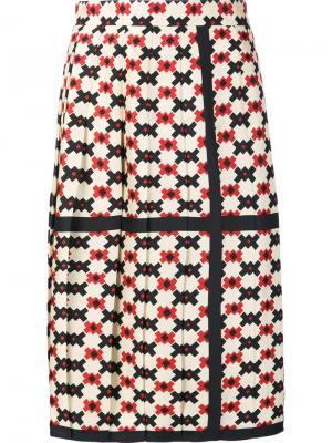 Плиссированная юбка с принтом в клетку Marc Jacobs. Цвет: чёрный