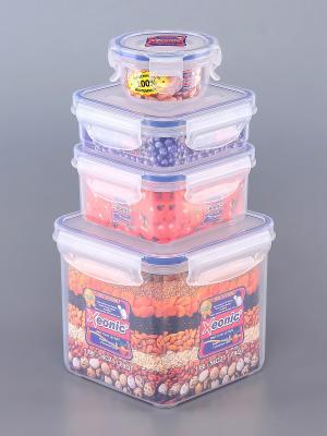 Набор 4 - х квадратных контейнеров XEONIC CO LTD. Цвет: прозрачный, синий