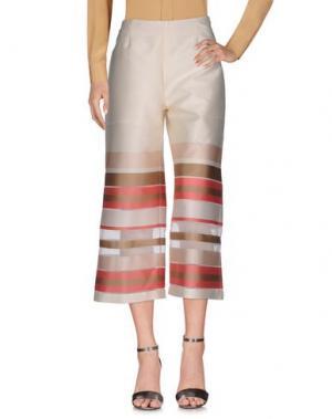 Повседневные брюки BIANCOGHIACCIO. Цвет: слоновая кость