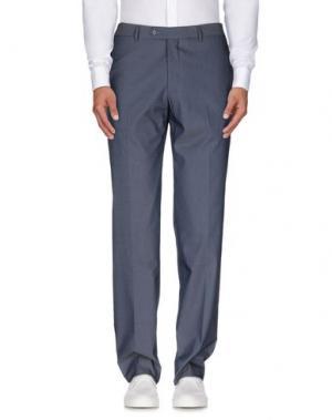 Повседневные брюки MAESTRAMI. Цвет: грифельно-синий