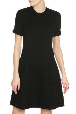 Полуприлегающее платье с коротким рукавом RED Valentino. Цвет: 013