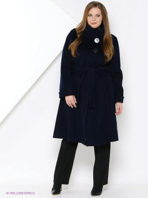 Пальто Estrade. Цвет: темно-синий