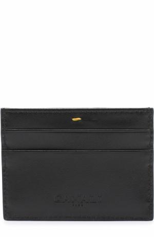 Кожаный футляр для кредитных карт Canali. Цвет: черный