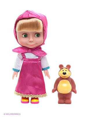 Кукла Маша и медведь Карапуз. Цвет: розовый, коричневый