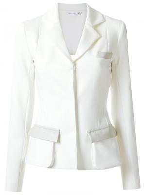 Panelled blazer Gloria Coelho. Цвет: белый