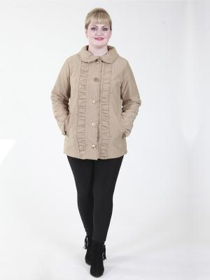 Куртка Селия VIKO. Цвет: бежевый