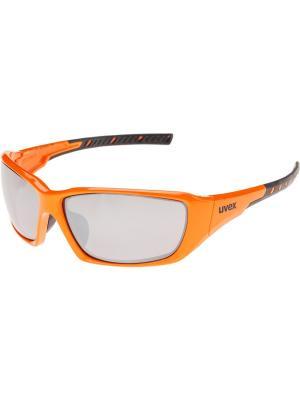 Солнцезащитные очки Uvex. Цвет: оранжевый