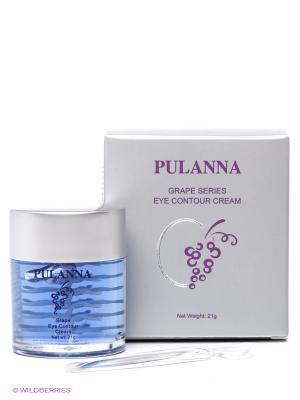 Крем для контура глаз -Eye Contour Cream 21г PULANNA. Цвет: серебристый