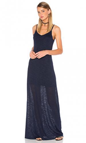 Макси платье open back Bella Luxx. Цвет: синий
