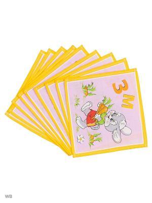 Набор платков носовых детских Римейн. Цвет: желтый, фиолетовый