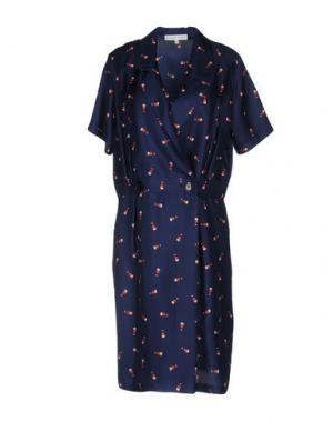 Платье до колена ALEXANDER TEREKHOV. Цвет: темно-синий