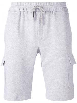 Спортивные шорты с эластичным поясом Eleventy. Цвет: серый