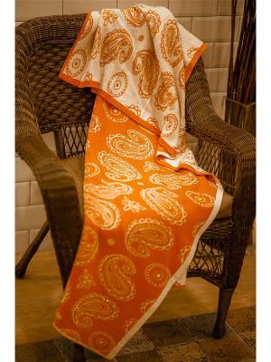 Пледы взрослые Farfalla. Цвет: оранжевый