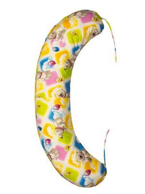 Подушка для беременных и кормящих Здоровье комфорт. Цвет: светло-коричневый, красный