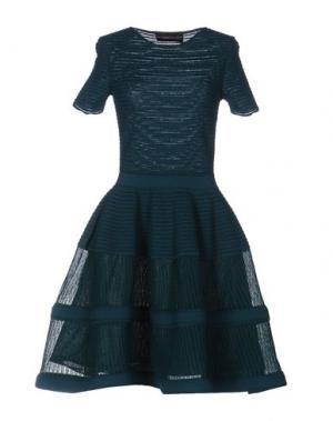 Короткое платье ANTONINO VALENTI. Цвет: цвет морской волны