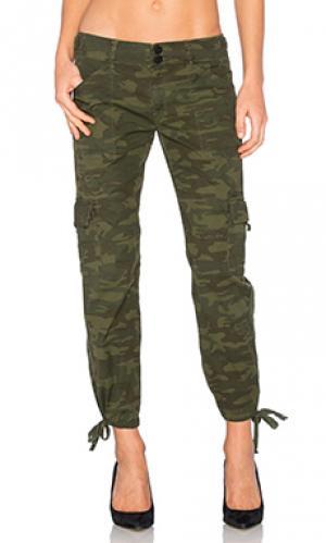 Укороченные брюки карго terrain Sanctuary. Цвет: оливковый