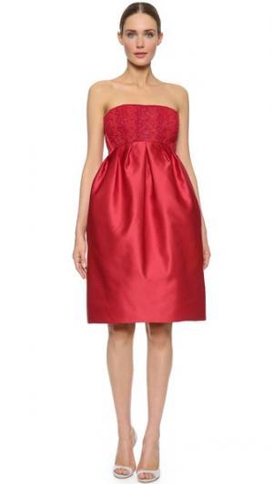Платье без бретелек Zac Posen. Цвет: красный кардинал