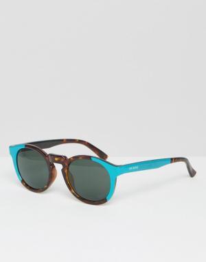 Mr Boho Солнцезащитные очки с гепардовым принтом и бирюзовыми вставками Mr. Bo. Цвет: коричневый