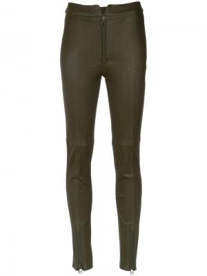 Leather leggings Nk. Цвет: зелёный