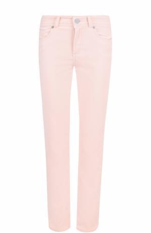 Укороченные бархатные джинсы прямого кроя Loro Piana. Цвет: розовый
