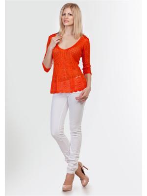 Пуловер Happychoice. Цвет: оранжевый